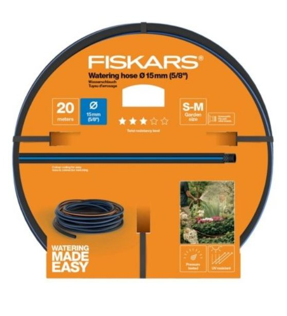 Fiskars Riego Manguera Anti-Torsion Q3 15mm 20m.