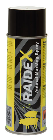 RAIDEX Spray Marcador Vacas y Cerdos 400ML Amarillo